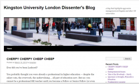 Kingston University Dissenter's Blog Screengrab